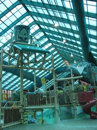 Wild Bear Falls Waterpark: One of the play areas (Bucket tips over every few minutes) kids love it!