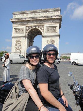 Paris by Scooter: Arc De Triomphe