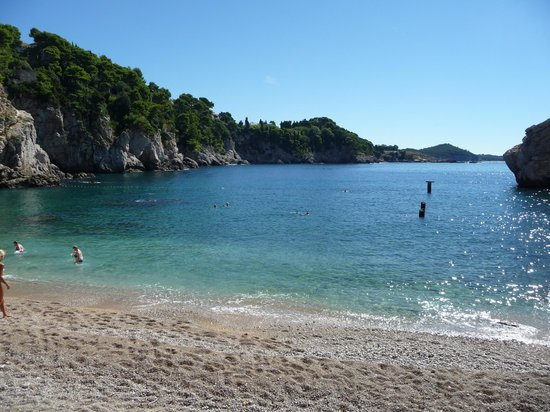 Hotel Bellevue Dubrovnik: Praia linda