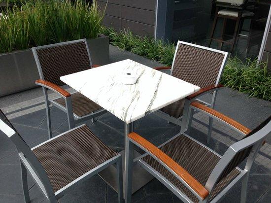 The Westin Guadalajara: Terrace Bar with Carrara Marble Table
