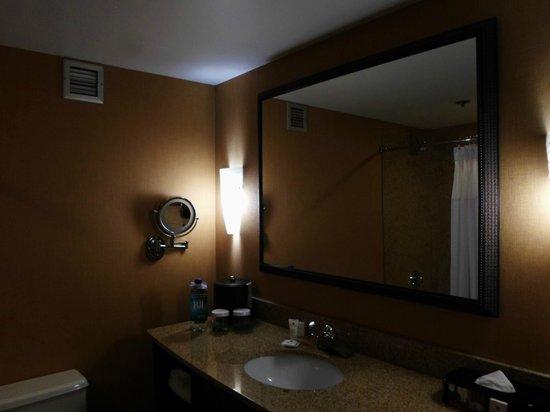 Crowne Plaza Greenville: Low Lighting Bathroom