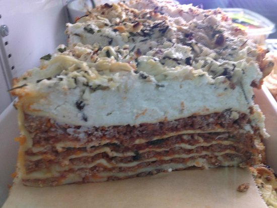 Coffee + Food: beef lasagna as art