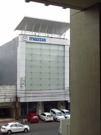 Alila Jakarta: Mazda showroom opposite hotel