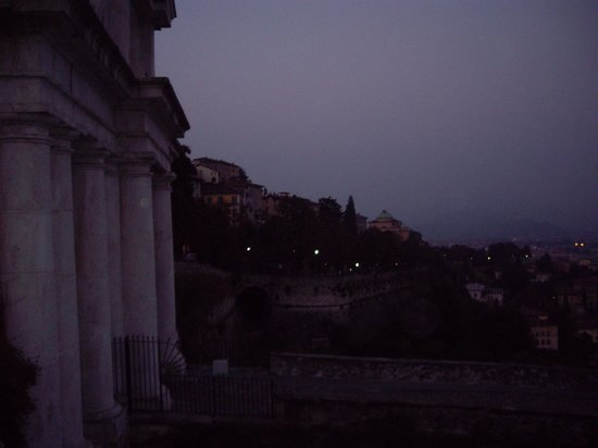 City Sightseeing Bergamo: View of Upper Bergamo at night