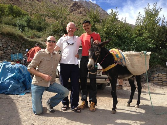 Gite Atlas Mazik: Us with Houssein and Sheila (our mule)