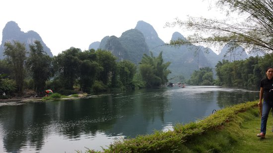 Yangshuo Mountain Retreat: Blick aus dem Restaurant