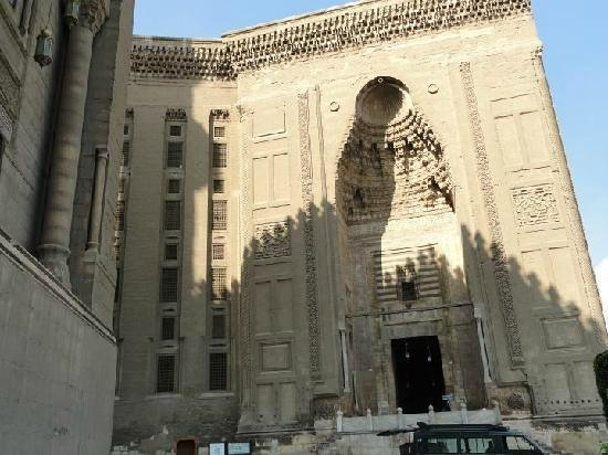Mosque and Madrasa of Sultan Hassan : the Facade and the entrance of the mosque