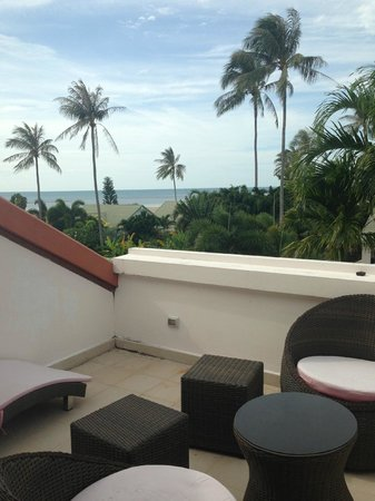 Shiva Samui: View from our rooftop balcony