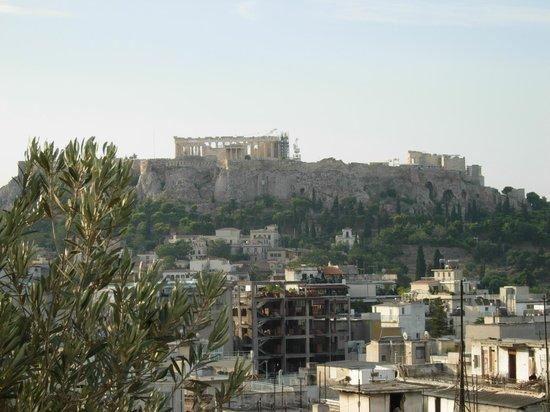 Evripides Hotel : Colazione con vistra sull'Acropoli