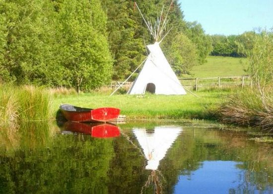 Mid Wales Tipis: The pond tipi - for sheltering whilst boating or barbecuing