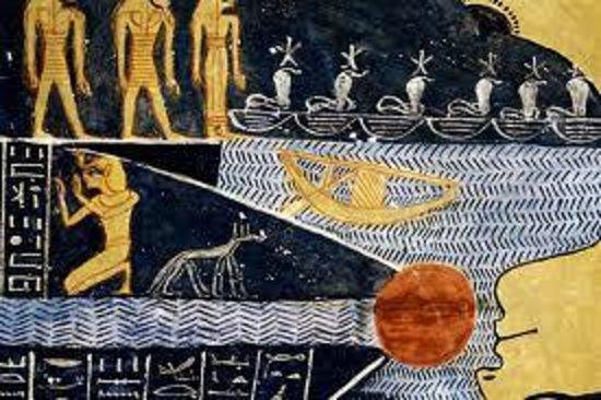 Tomb of Ramses VI: religious scene from religious books