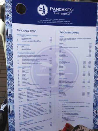PANCAKES Amsterdam Negen Straatjes: menu