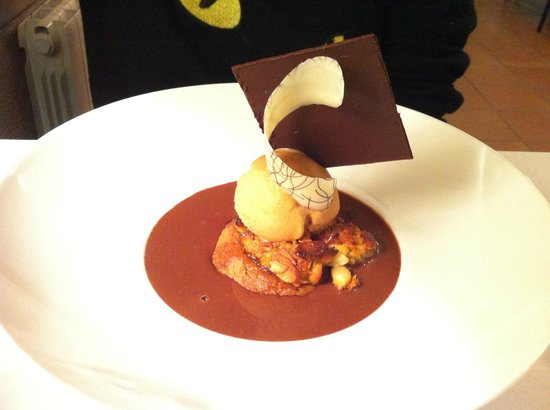 dessert au chocolat et fruits rouges pour moi picture of le sabayon lorient tripadvisor