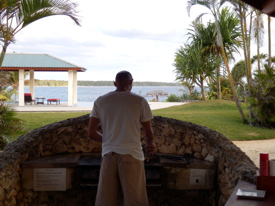 Nasama Resort: View from the BBQ