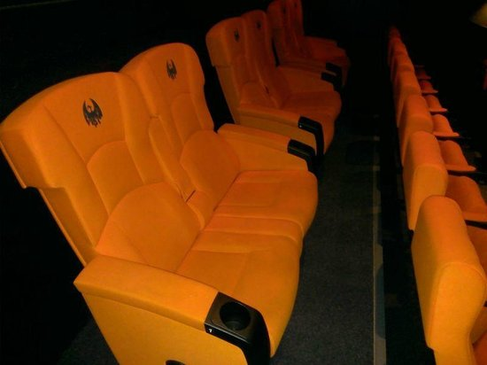 Oban Phoenix Cinema: The double seats on the back row
