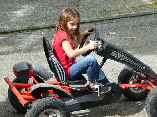 Fox Glacier TOP 10 Holiday Park: The kids LOVED the carts