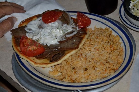 Laki's Greek Restaurant & Pizza: Laki's Platter - very good.