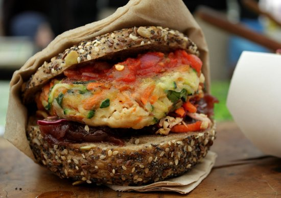 Broadway Market: Veggie burger