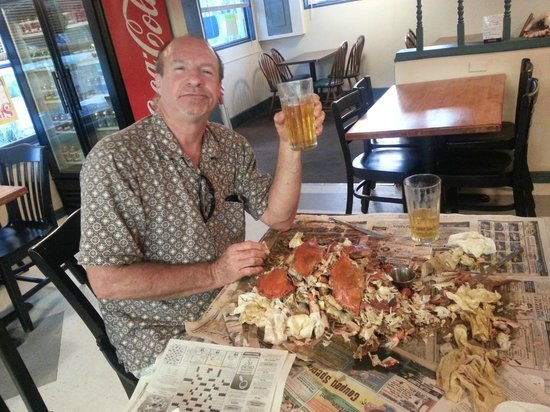Suds n Subs: All u can eat steamed blue crabs and free beer