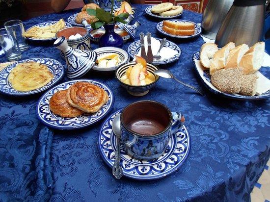 Riad Bleu Du Sud : La buonissima colazione
