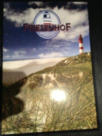 Friesenhof: menu