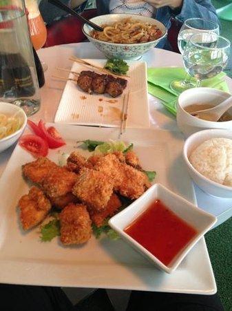 Hoki sushi : 炸三文鱼