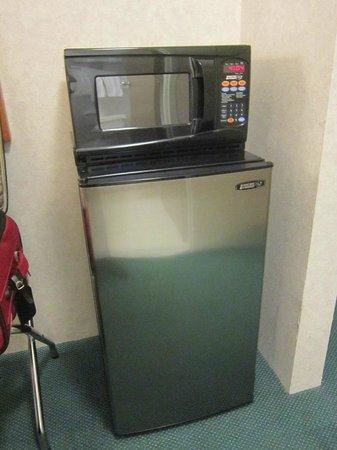 Quality Inn & Suites Riverfront : micro/fridge