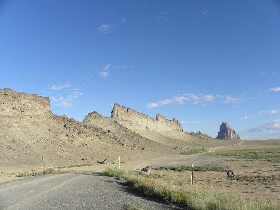 Shiprock Rock Formation: La cresta