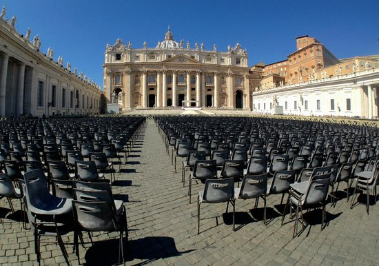 Tours of the Vatican with Tom & his Team : day before the Pope spoke
