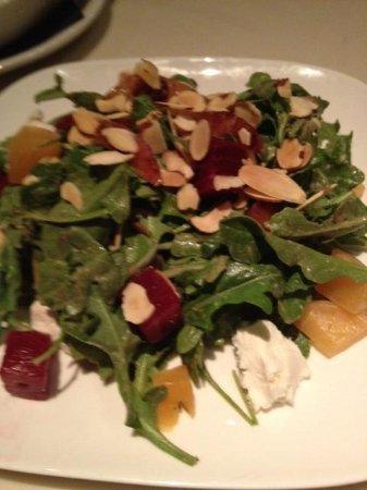 Zel's Del Mar Cafe: beet & goat cheese salad