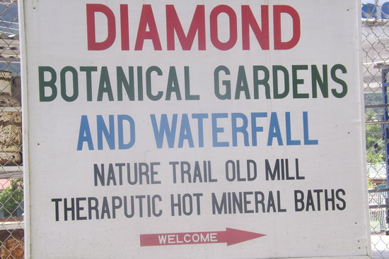 Diamond Falls Mineral Baths Spa: Diamond Mineral Bath sign
