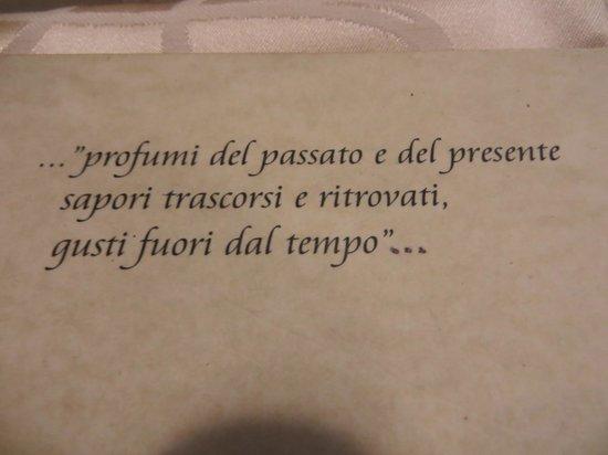 Antica Ostaja: menu cover