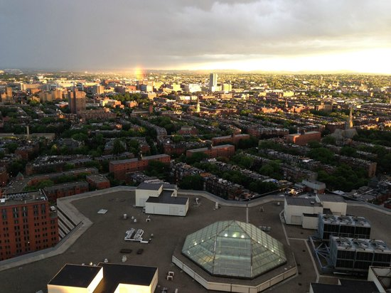 The Westin Copley Place, Boston: another amazing view and even a rainbow!