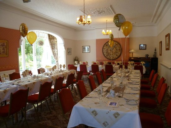 Claireville Hotel: Room set out for Golden Wedding lunch