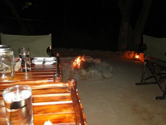Cheetah Plains: The main eating area (boma)