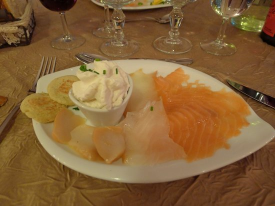 Le Carrousel : Trio of their delicious smoked fish starter