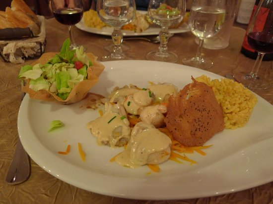 Le Carrousel : Main course with Monkfish fricasse & salad