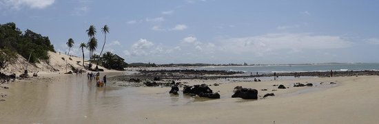 Genipabu Beach: vista da chegada pelas dunas