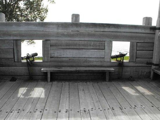 Port-Royal National Historic Site : Inside the defense block.