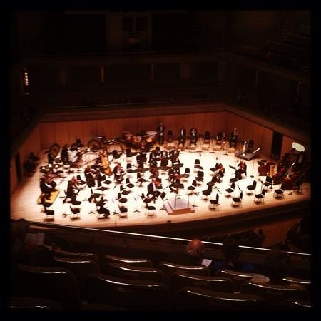 Roy Thomson Hall: The TSO warming up on opening night