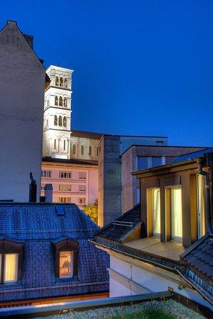 Bristol Hotel Zurich: top floor view