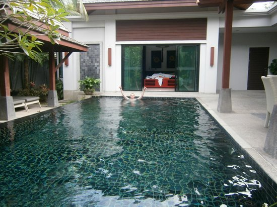 The Bell Pool Villa Resort Phuket : Pool and master bedroom in the background