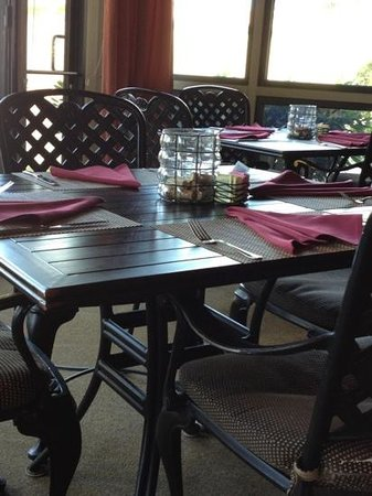 Harvest Grill: enclosed patio seating