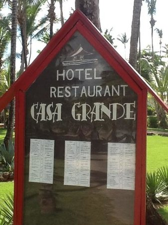 Casa Grande Beach Hotel : Casa Grande Hotel and French Restaurant