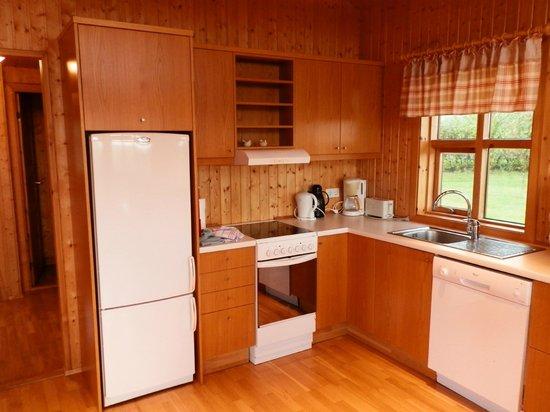 Minniborgir Cottages: kitchen