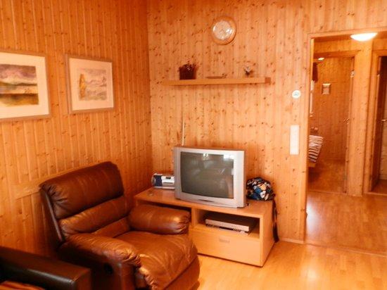 Minniborgir Cottages: lounge area