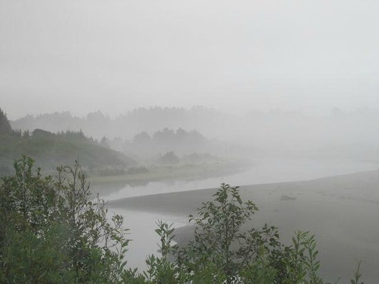 Moonstone Grill: Even in foggy, rainy weather it's gorgeous