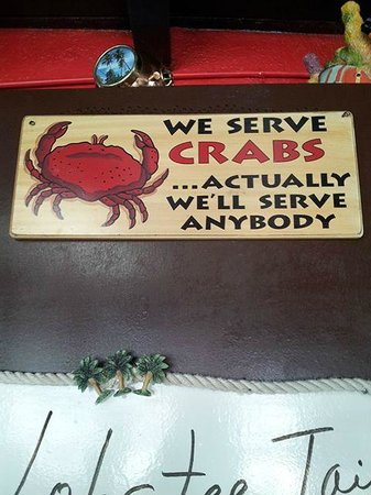 KING Seafood Market & Restaurant: A funny sign there