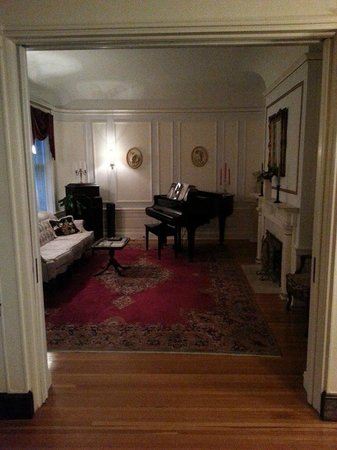 Olcott House Bed and Breakfast Inn : Second Formal Sitting Room with Piano