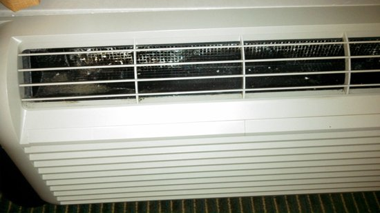 Hampton Inn Georgetown - Marina: Mold on A/C unit